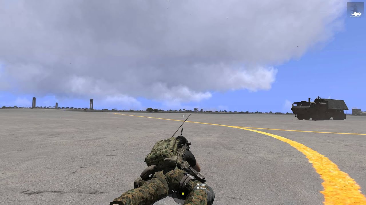 Arma 3  B-2 Spirit drops B61 nuclear bomb foot soldier view - Thủ