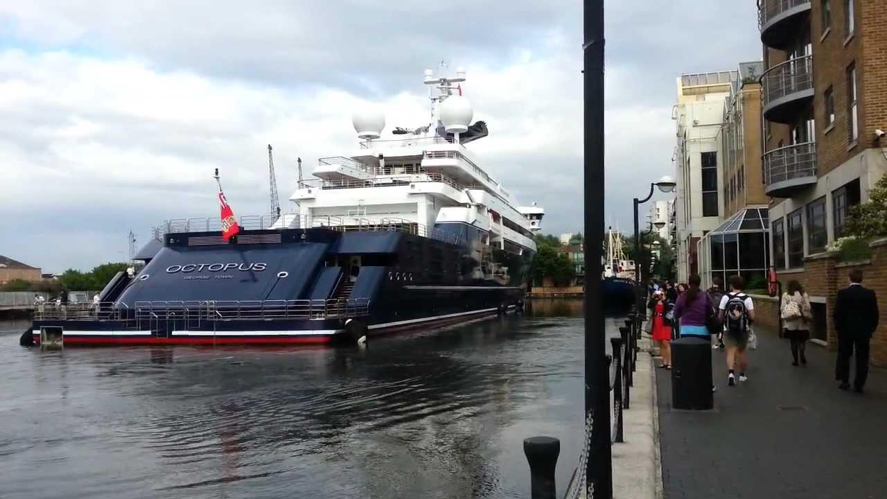 Paul Allens Yacht Octopus In London YouTube