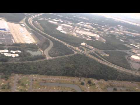 Charleston South Carolina flying over Dreamliner Boeing Plant