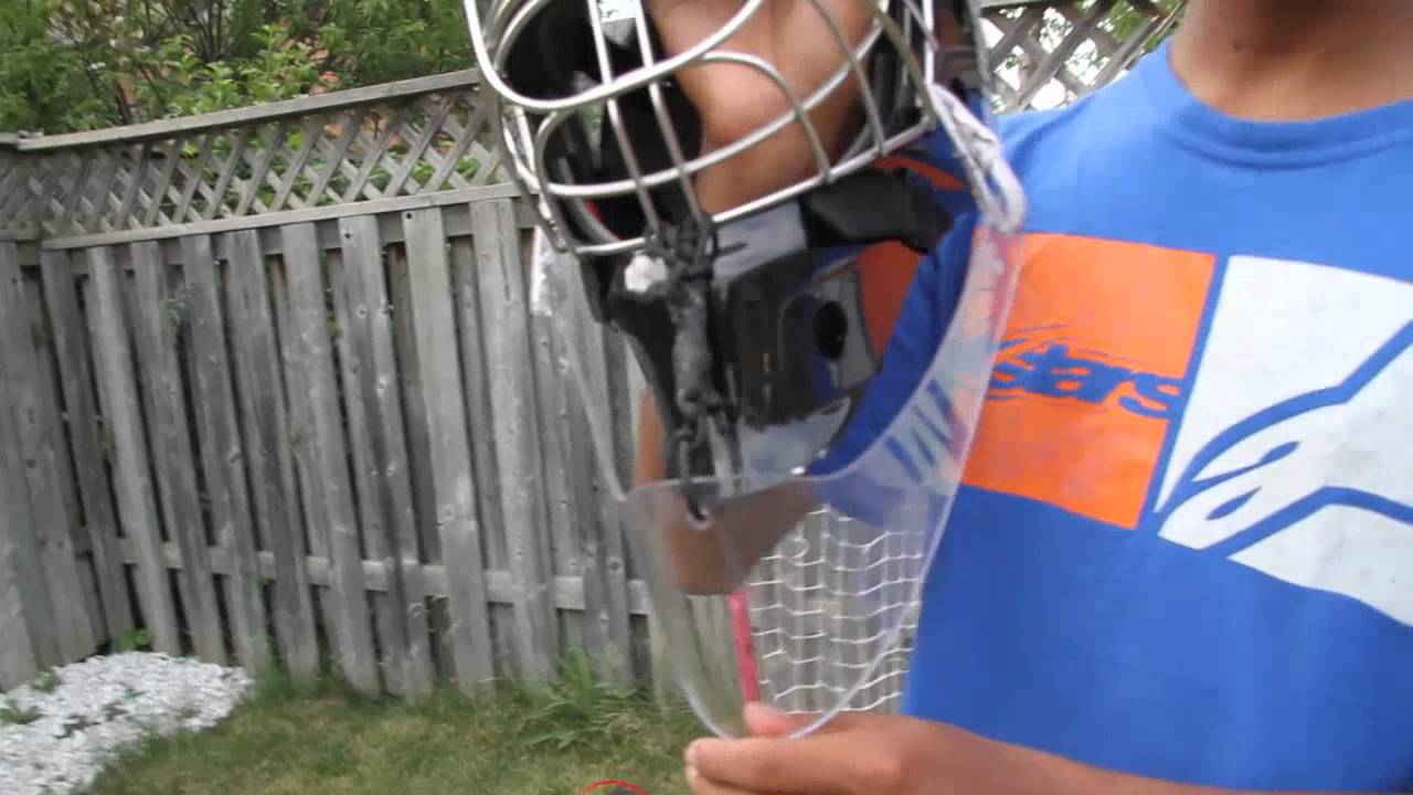 165d024c5a6 MistryHockey Reviews  A R Lexan Throat Guard - YouTube