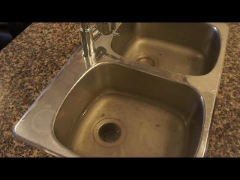 unclog kitchen drain hood vent clogged how to a sink easy fix youtube