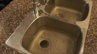 Clogged Drain - How to unclog a clogged kitchen sink easy fix