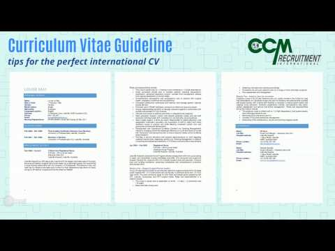 CCM Recruitment International CV Guideline