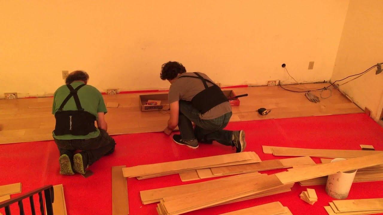 Millstead Lock Hardwood Flooring Install Timelapse