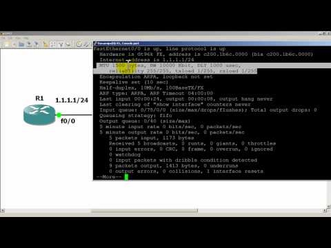 RouterGods - Show Interfaces command on a Cisco router