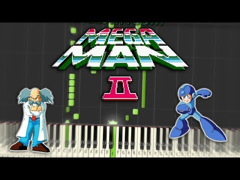 Megaman 2 Dr Wily's Stage 1 Theme Piano Tutorial Synthesia