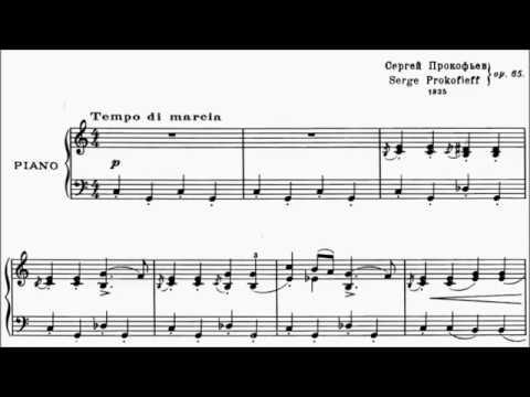 LCM Piano 2018-2020 Grade 4 List C3 Prokofiev March Op.65 No.10 Sheet Music