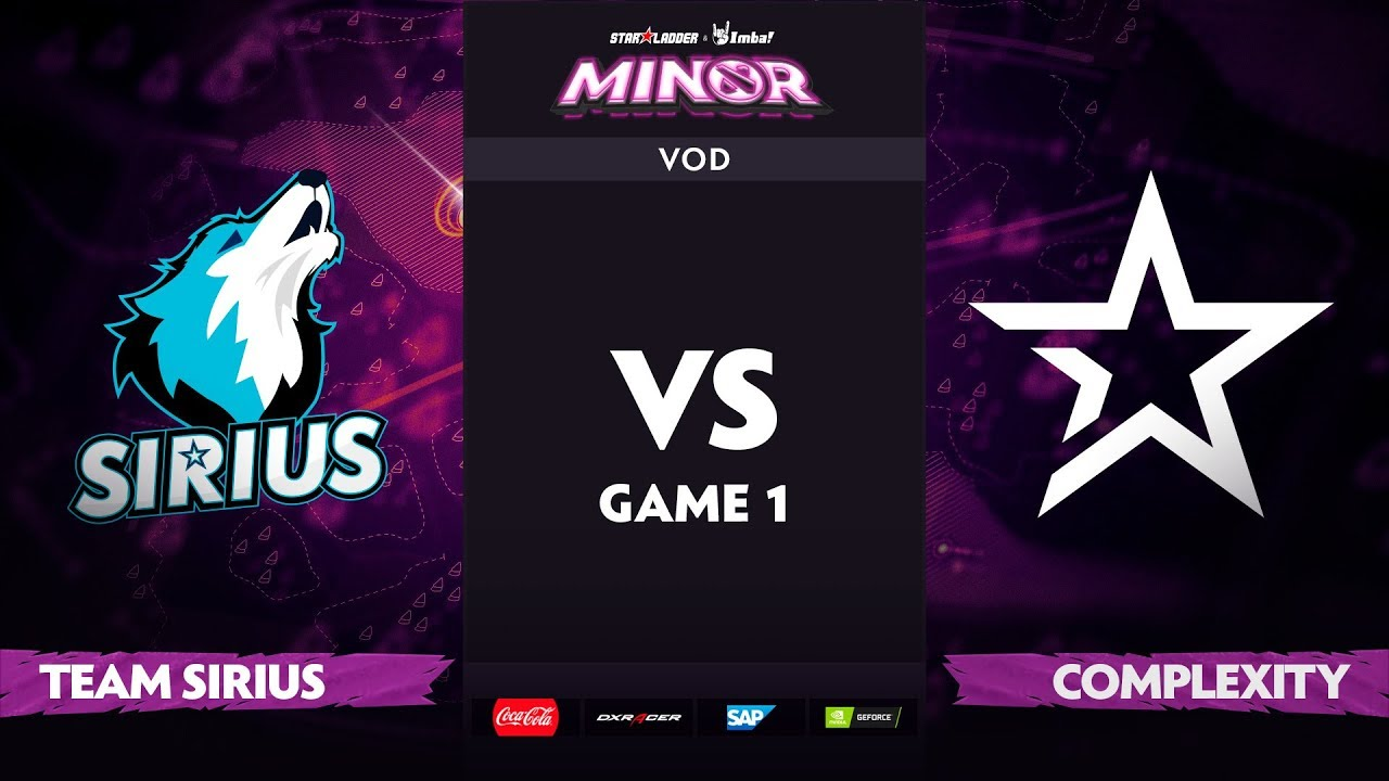 [EN] Team Sirius vs Complexity, Game 1, StarLadder ImbaTV Dota 2 Minor S2 Group Stage