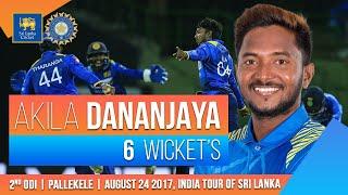 Akila Dananjaya's magical six-wicket haul | India tour of Sri Lanka 2017