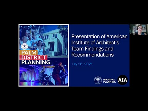 Palm District Planning Initiative Presentation of American Institute of Architect's Team Findings - English