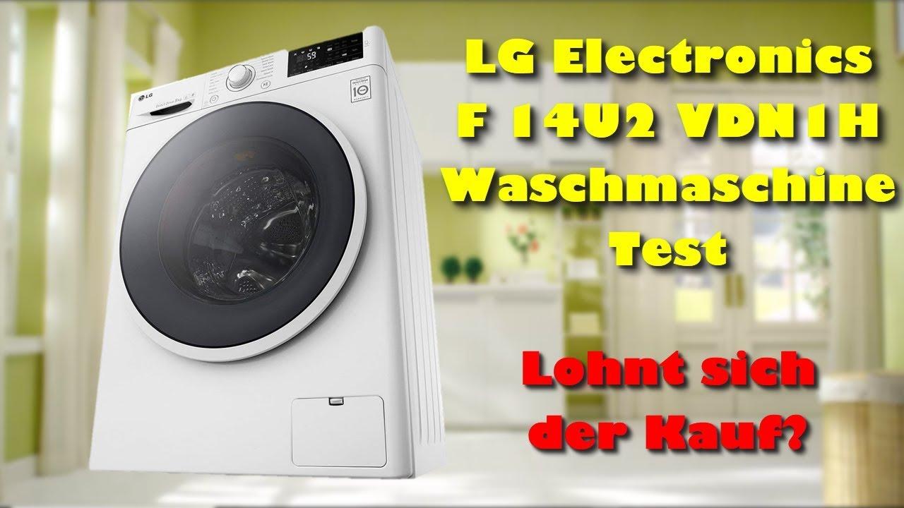 Lg Electronics F 14u2 Vdn1h Waschmaschine Test Lohnt Sich Die Lg Waschmaschine Zu Kaufen Youtube