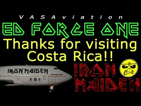 [FUNNY ATC] Iron Maiden ED FORCE ONE Arriving At San Jose (Costa Rica)!!