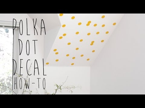 UrbanWalls | How To Install Small Polka Dot Decals