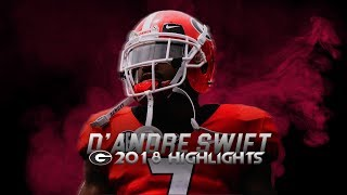 D39Andre Swift 2018 Georgia Highlights - Shiftiest Running Back in College Football
