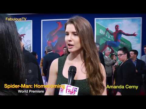 Amanda Cerny tells her ... at Spider Man: Homecoming