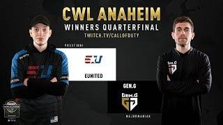 eUnited vs Gen.G | CWL Anaheim 2019 | Winners Quarterfinal