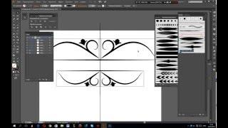 Урок Adobe Illustrator CC.Рисуем с зеркальным эффектом.Симметричное рисование.Symmetrical drawing