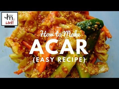 LIVE - How to Make Acar (Easy Recipe)