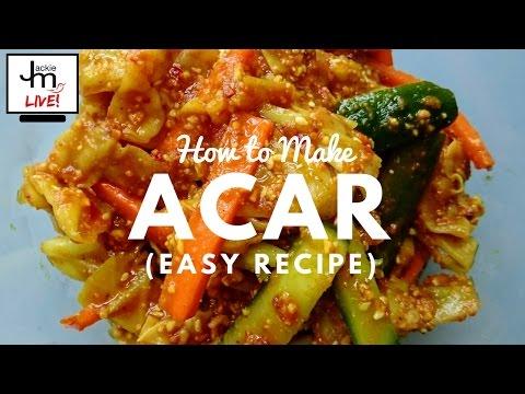 LIVE - How to Make Acar (Easy Recipe)
