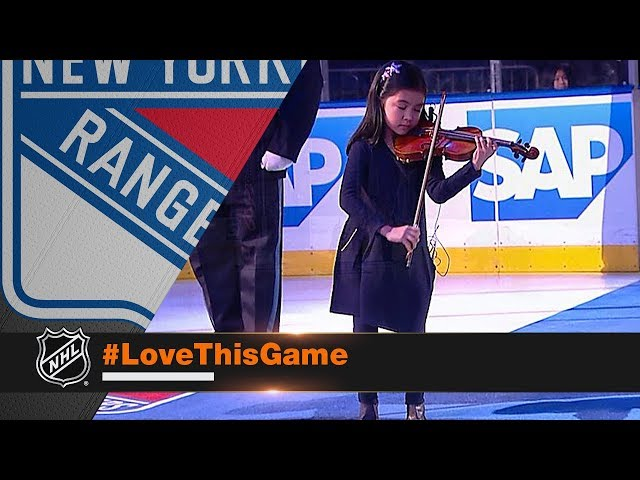 Zoe Nguyen captivates MSG crowd with anthem on violin