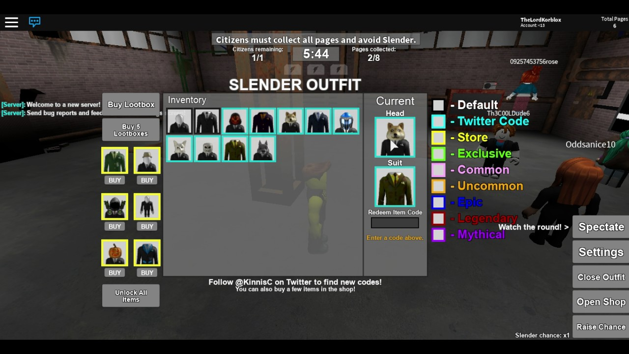 roblox stop it slender codes
