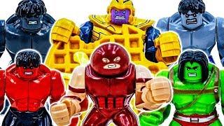 Колекція лего Халк іграшки йти~! Танос З'явився | Зупинити Його Від Крадіжки Файлів Cookie #Toymarvel