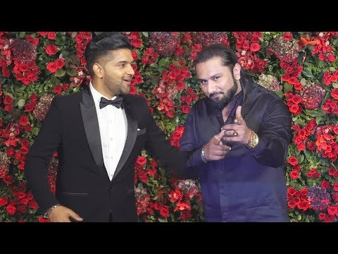YO YO Honey Singh और Guru Randhawa पहुचें Deepika Ranveer के Reception पर