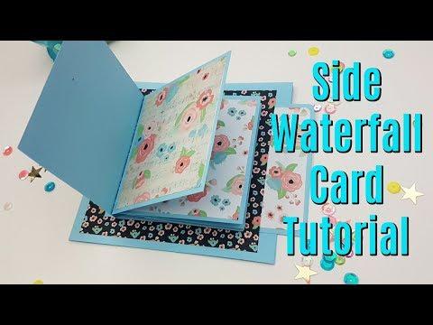 Side Waterfall Card Tutorial // Interactive Mini Album piece