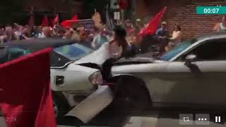 Car rams protesters at Charlottesville