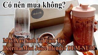 Dùng Máy Xay Sinh Tố Cầm Tay Xiaomi Deerma Juice Blender Để Xay Cà Chua Và Đánh Giá