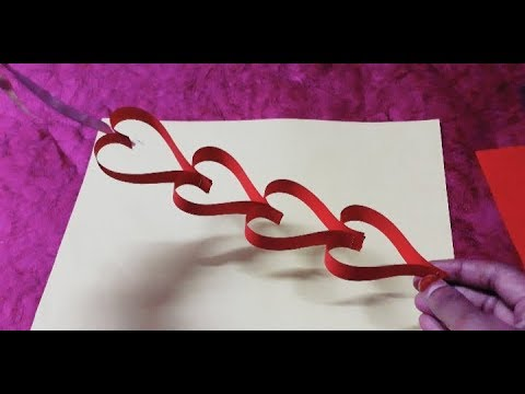 How to make wall hanging from paper || heart shape wall hanging craft || Valentine's Day special