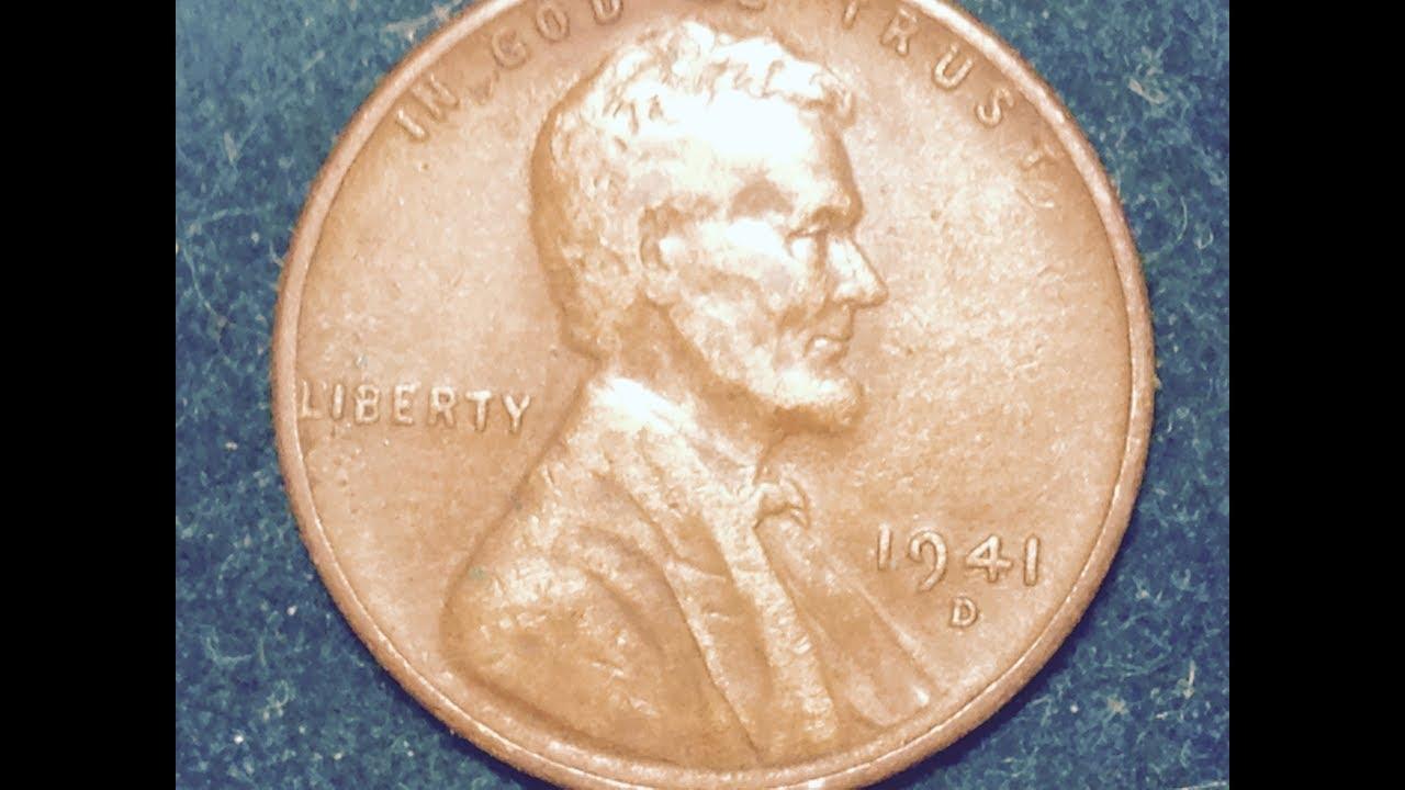 1941 D Lincoln Penny (Mintage 128 Million)