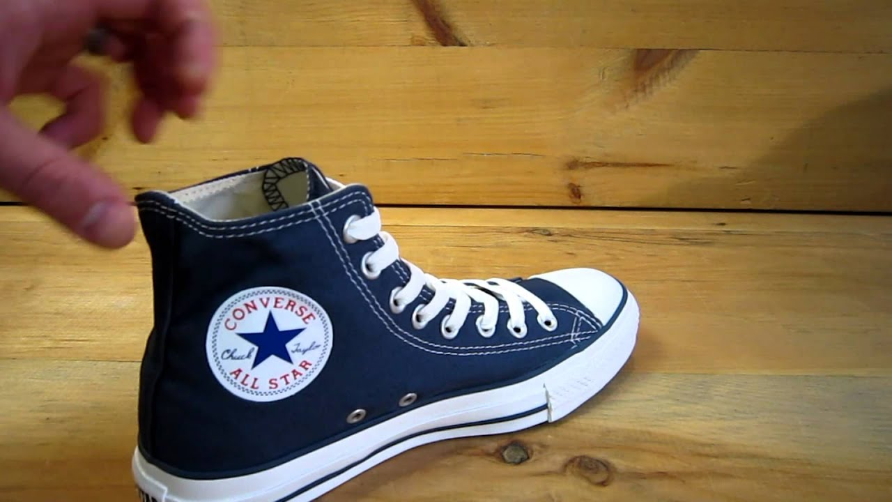f0ae93fdd5c4a0 Converse All Stars Chuck Taylor High Navy - YouTube