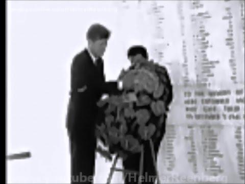 June 9, 1963 - President John F. Kennedy Visits USS Arizona Memorial at Pearl Harbor, Hawaii