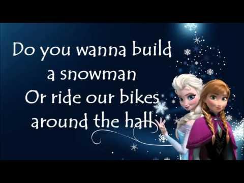 Do you wanna build a snowman karaoke