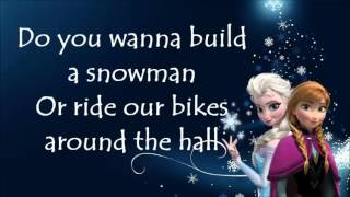 Do you wanna build a snowman karaoke