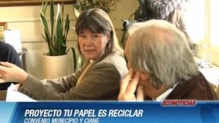 Convenio Municipio y Ciane - PROYECTO TU PAPEL ES RECICLAR