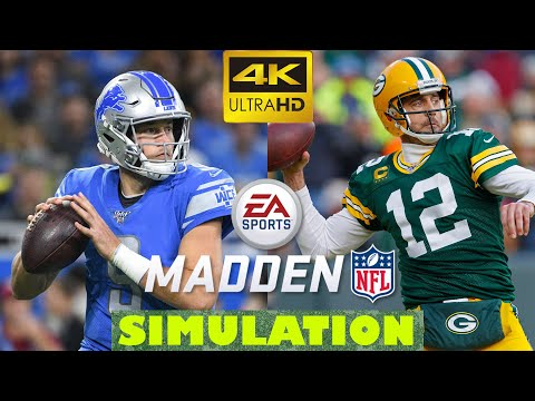 NFL 2020 Detroit Lions Vs Green Bay Packers Week 2 Full Game | Madden 20 Season Simulation - 4K