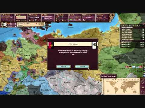 Lets Play Victoria 2 Prussia pt 4 : Friends and Enemies