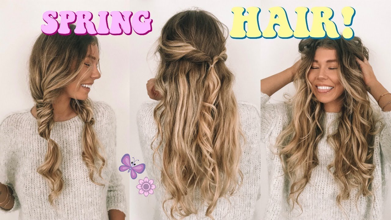 SUPER EASY + CUTE HAIRSTYLES FOR SPRING! - YouTube