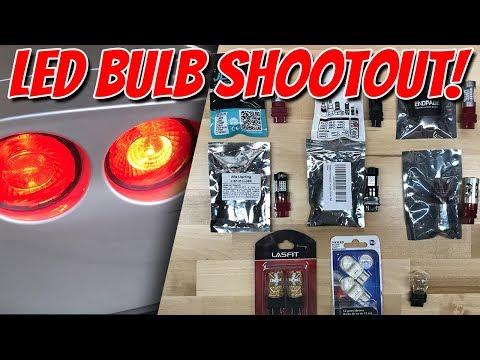 8 Brands 3157 LED Taillight Bulb Shootout! - Upgrading brake lights on C6 Corvette