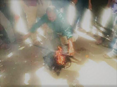Yemeni Taliban.. burning women's clothes in the streets of #Sanaa ... Why?