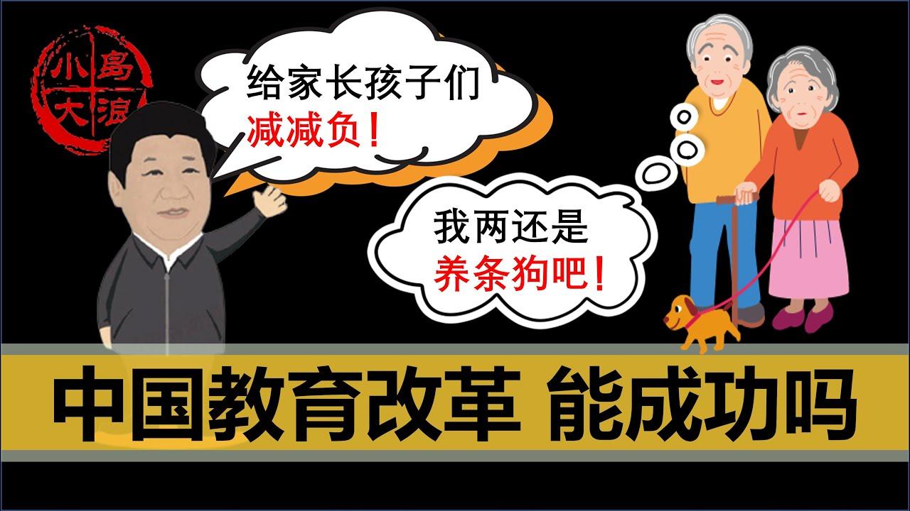 """【小岛浪吹】中国教育改革""""双减""""能成功吗,你愿意生三胎吗,聊聊中国近几年的几个失误"""