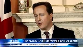 UK Prime Minister David Cameron says