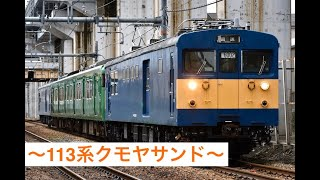 JR西日本 113系(R1編成)クモヤサンドによる吹田入場回送