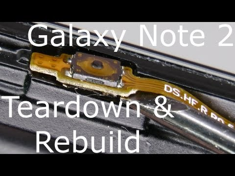 Galaxy Note 2 Disassembly & Assembly - Screen and Case Replacement - Drop Test Repair