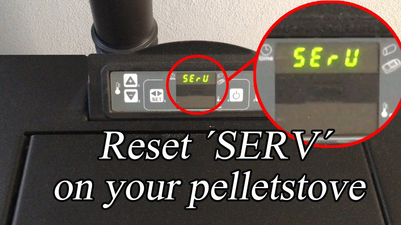 reset serv on your pelletstove service pellet stove youtube. Black Bedroom Furniture Sets. Home Design Ideas