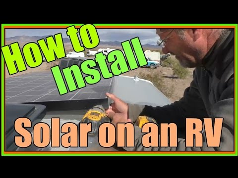 How to install Solar panels for RV | Bobs Cargo Trailer Install