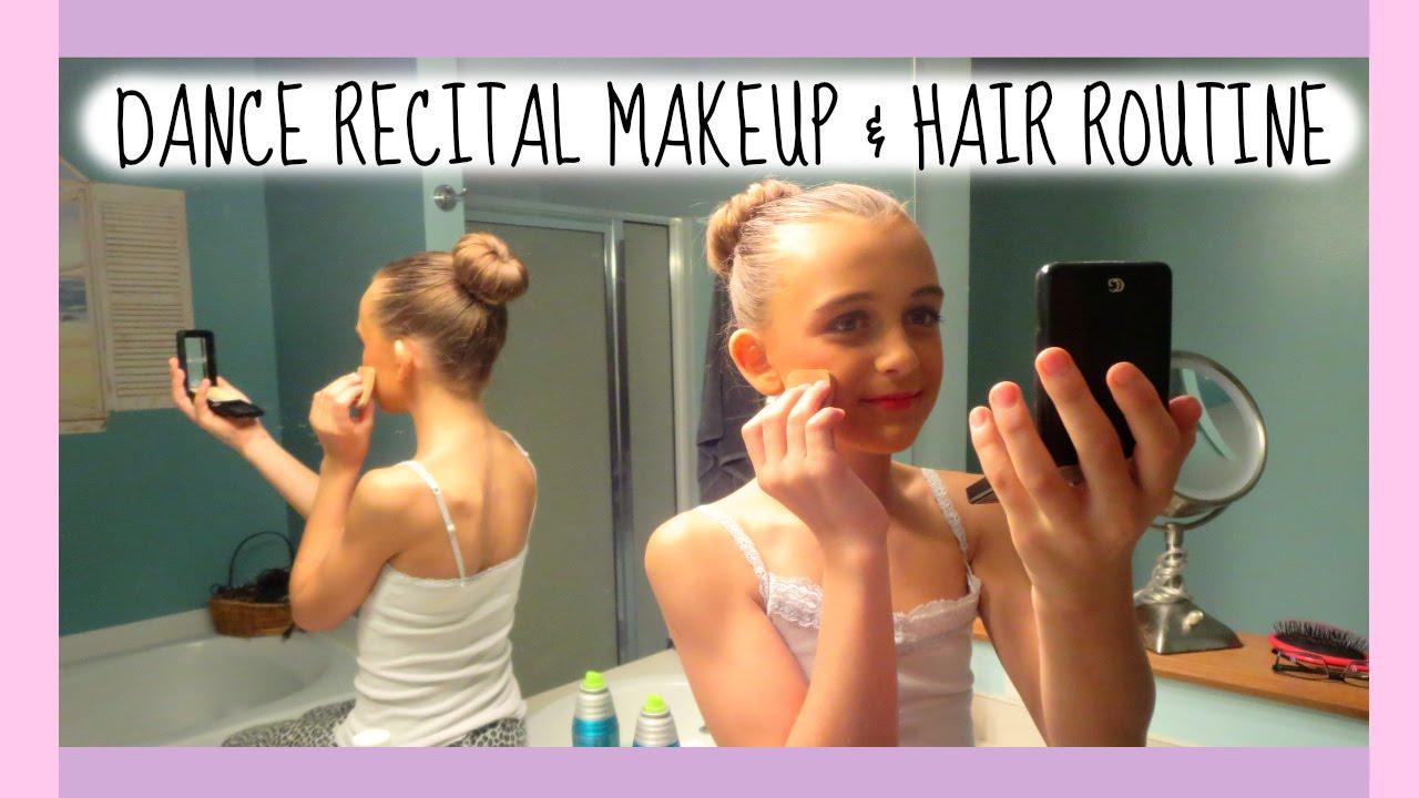 dance recital hair & makeup routine