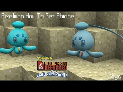 Pixelmon How To Get Phione Youtube